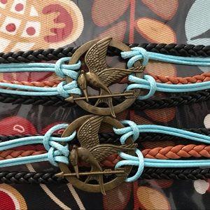 brass Mocking Jay bracelets